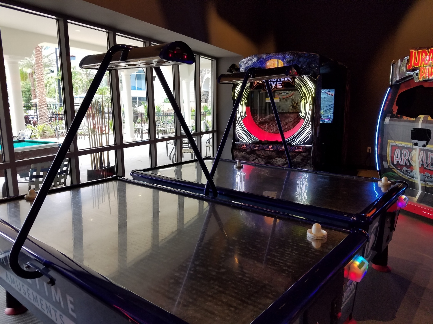 Air Hockey at Calypso Game Zone in Sapphire Falls