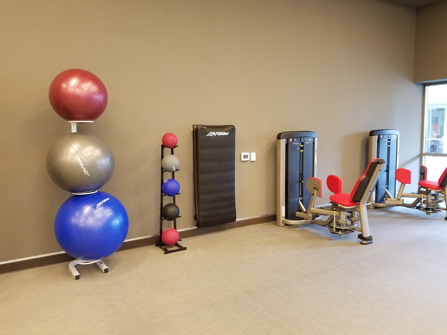 Workout Balls Located in Kalina Health and Fitness Room