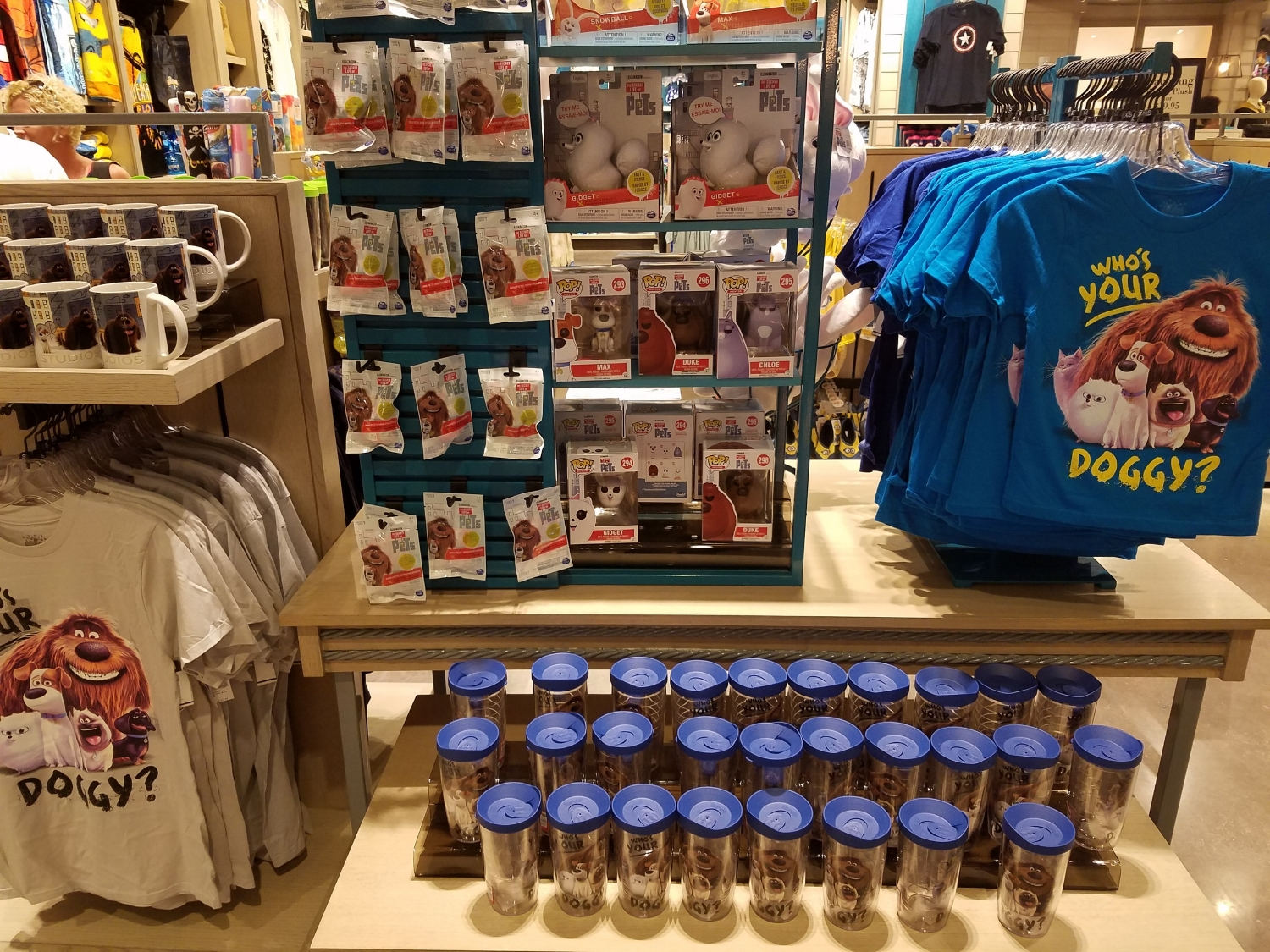 Secret Life of Pets Merchandise at Universal Studios Store in Sapphire Falls