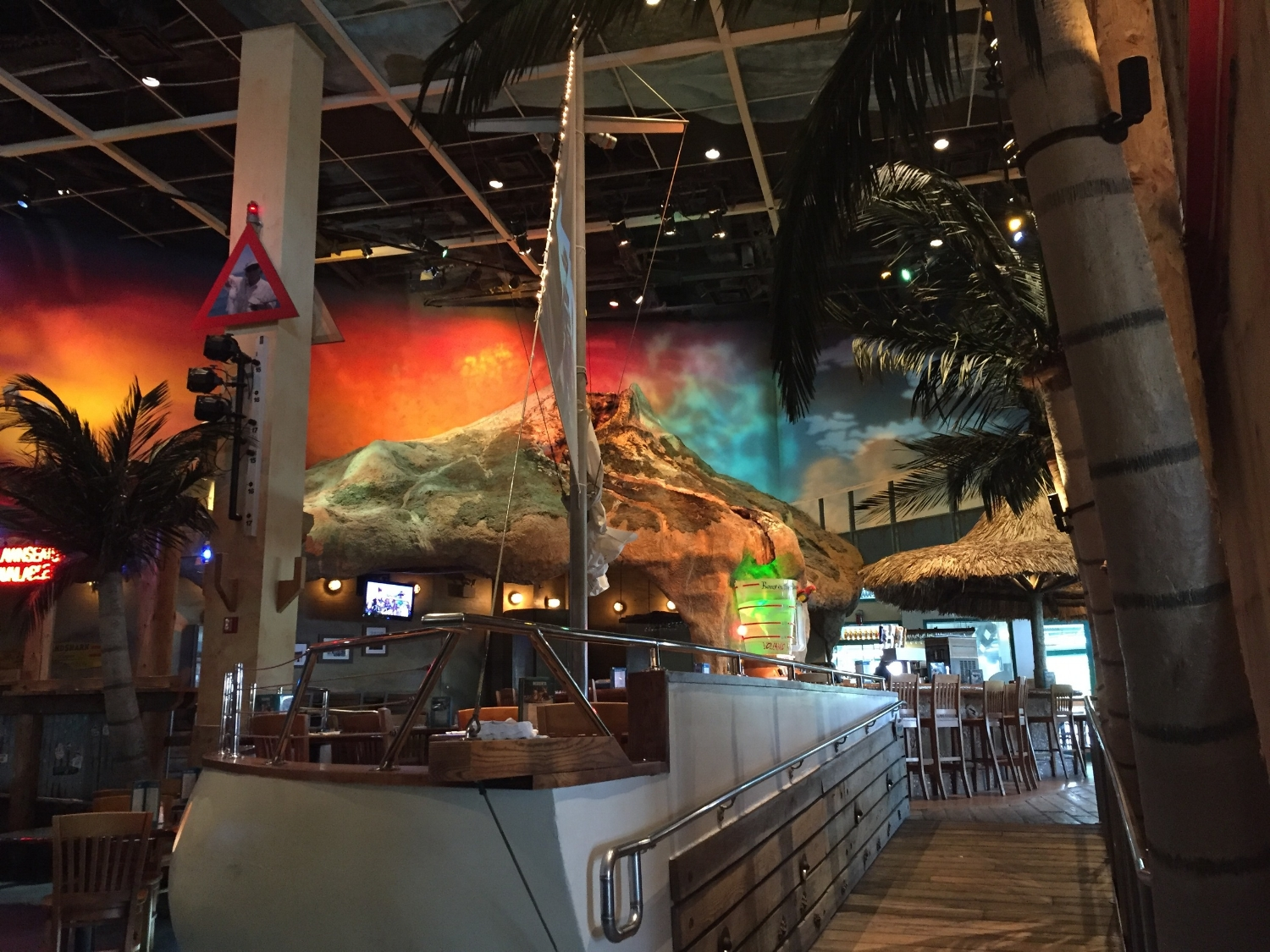 Volcano Above the Volcano Bar at Jimmy Buffet Margaritaville