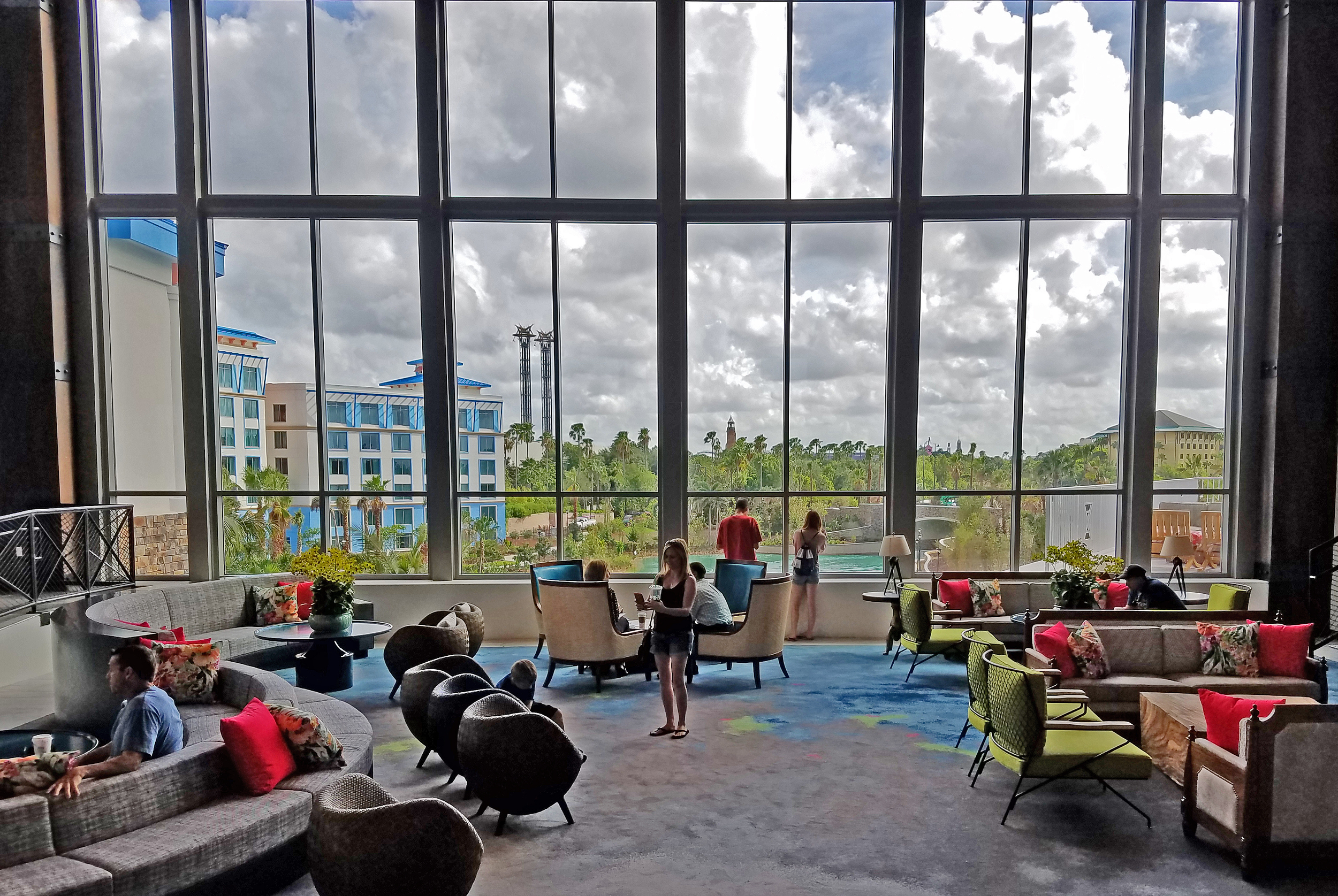 View From Loews Sapphire Falls Resort Front Desk Area