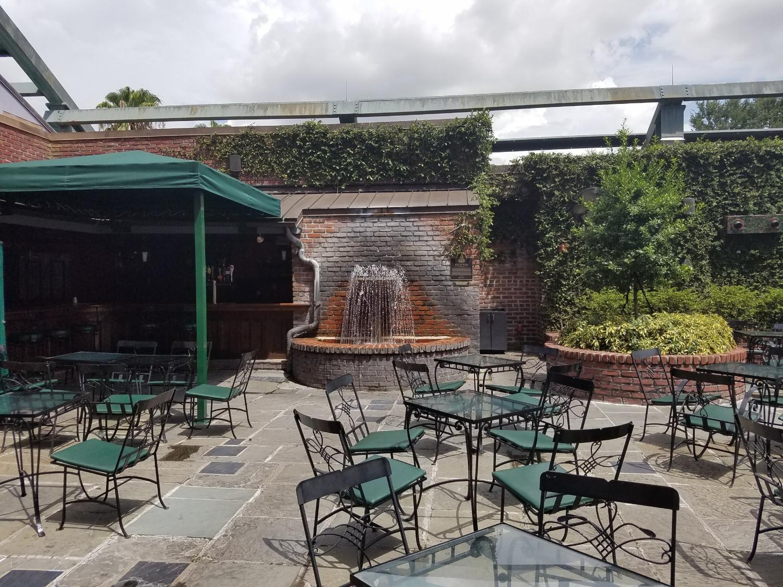 Patio Bar Seating at Pat O'Brien's