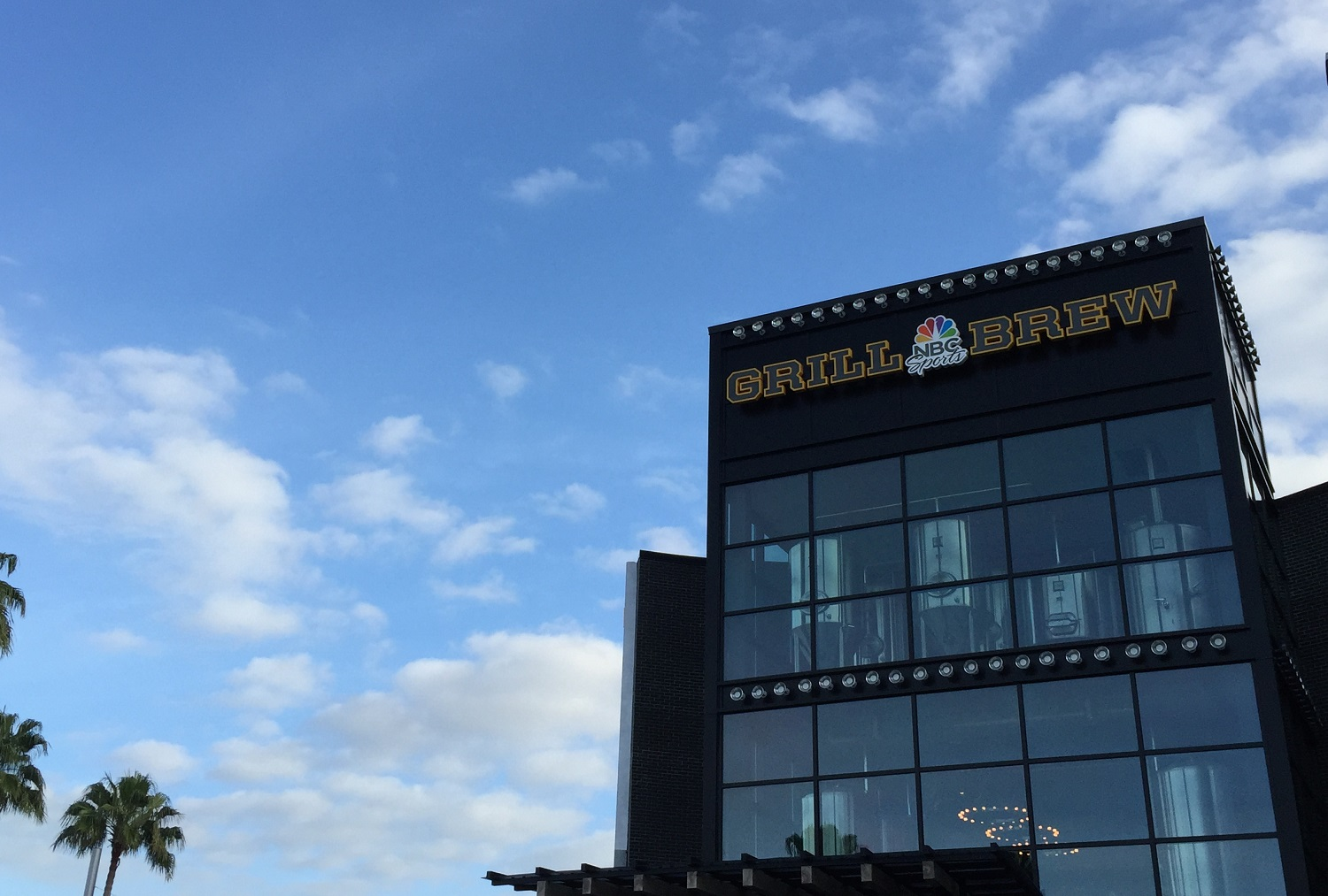 NBC Sports Grill and Brew Sign