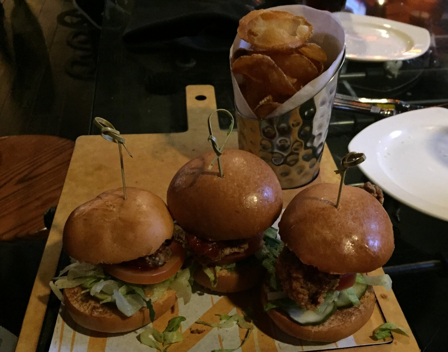 Southern Fried Sliders at NBC Sports Grill & Brew