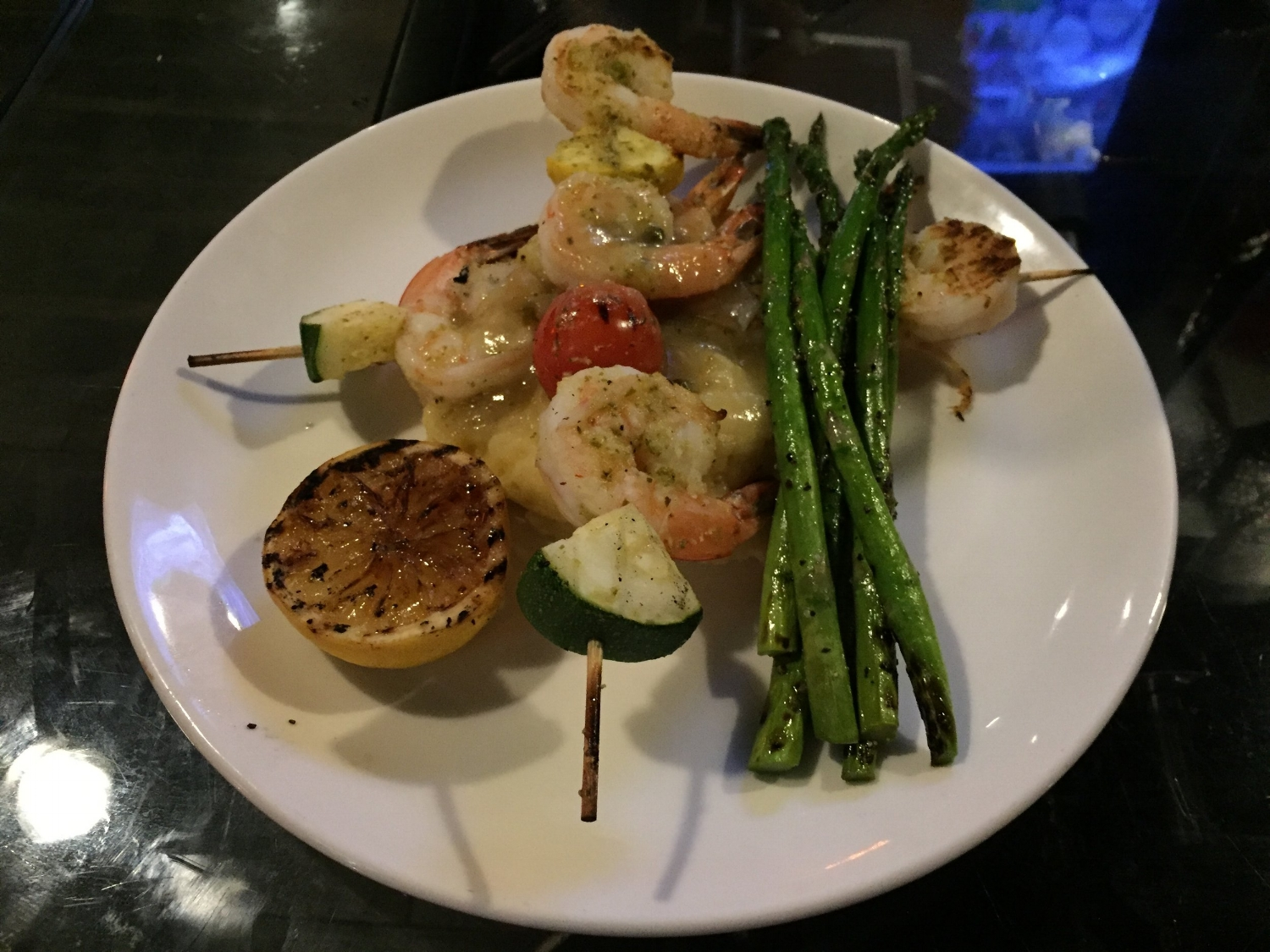 Grilled Shrimp Skewer at NBC Sports Grill & Brew