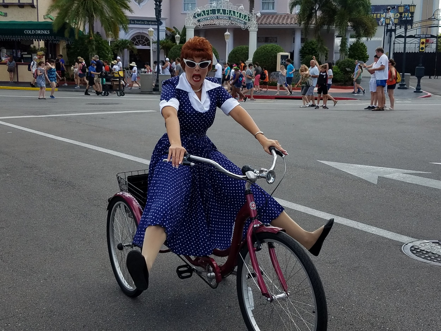 Lucy on her Bike