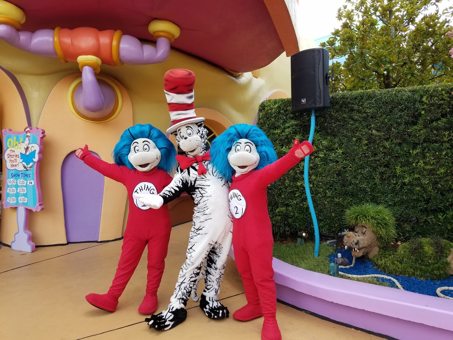 The Cat in the Hat and Thing 1 and Thing 2