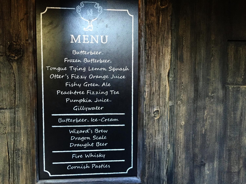 The Hopping Pot menu.