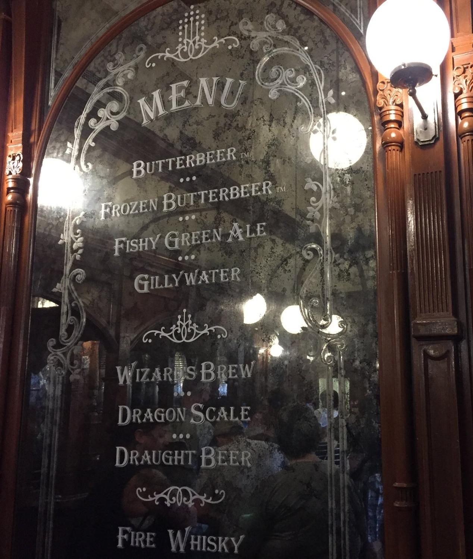 The Fountain of Fair Fortune menu.