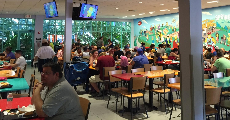 Indoor seating at Krusty Burger