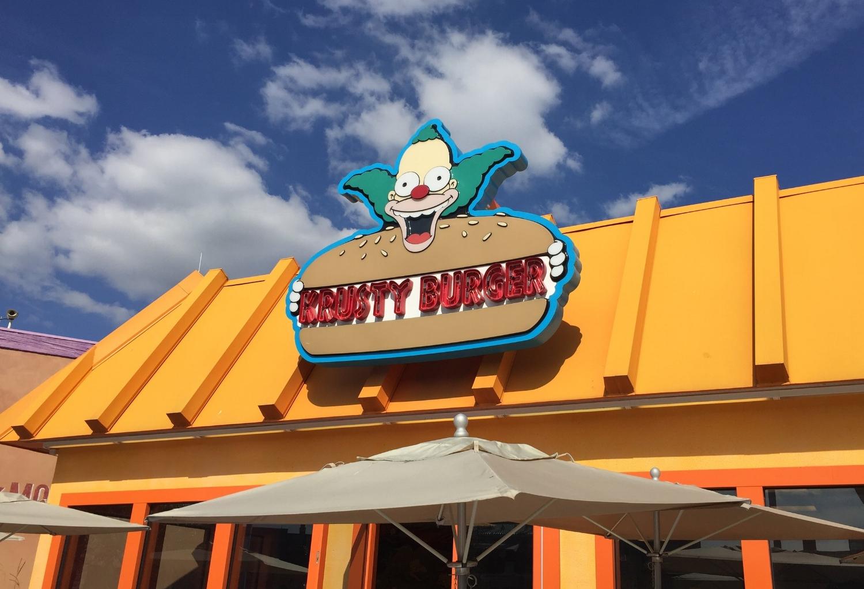 Exterior Sign at Krusty Burger