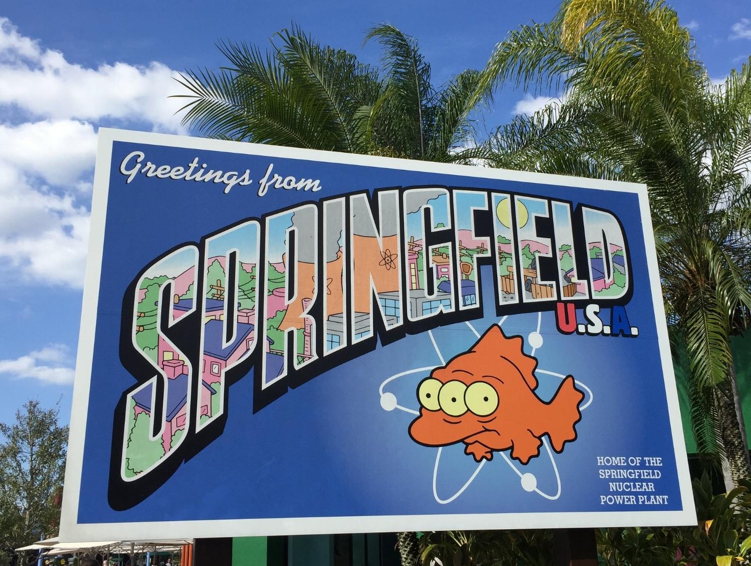 Springfield U.S.A. Sign at Universal Studios Florida