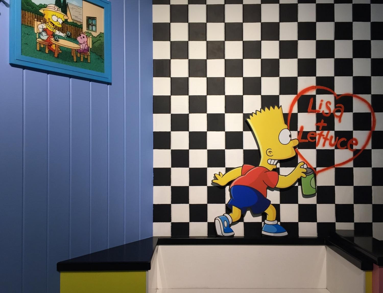 Simpsons Photo Op in Krusty Burger
