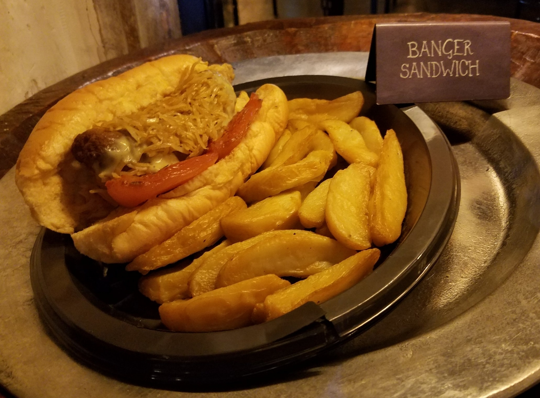 Banger Sandwich at Leaky Cauldron