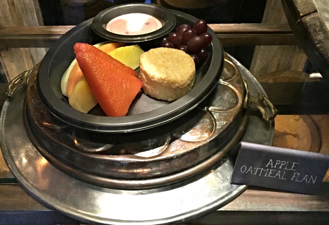Apple Oatmeal Flan at Leaky Cauldron