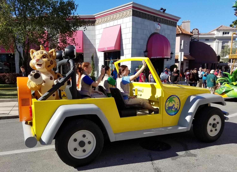 Jaguar in the Backseat of Dora's Jeep