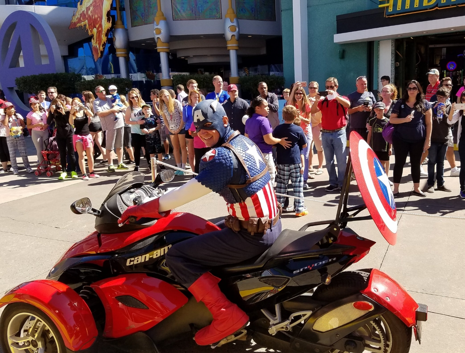 Captain America on his Can-Am Spyder