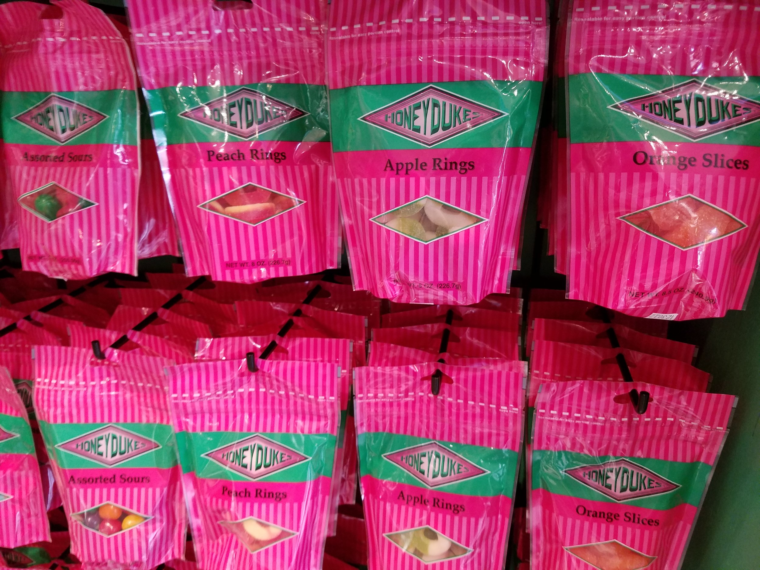 Assorted candy from Honeydukes