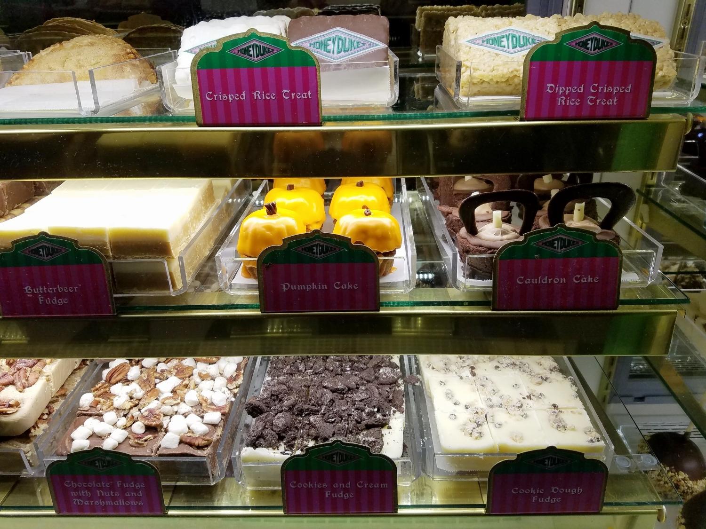 More bakery treats and fudge from from Honeydukes.