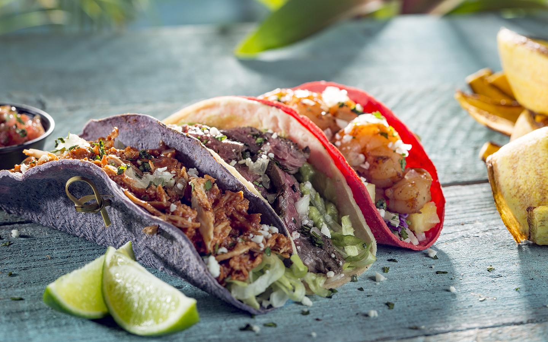 Taco Sampler at The Feasting Frog. Image credit: Universal Orlando Resort.