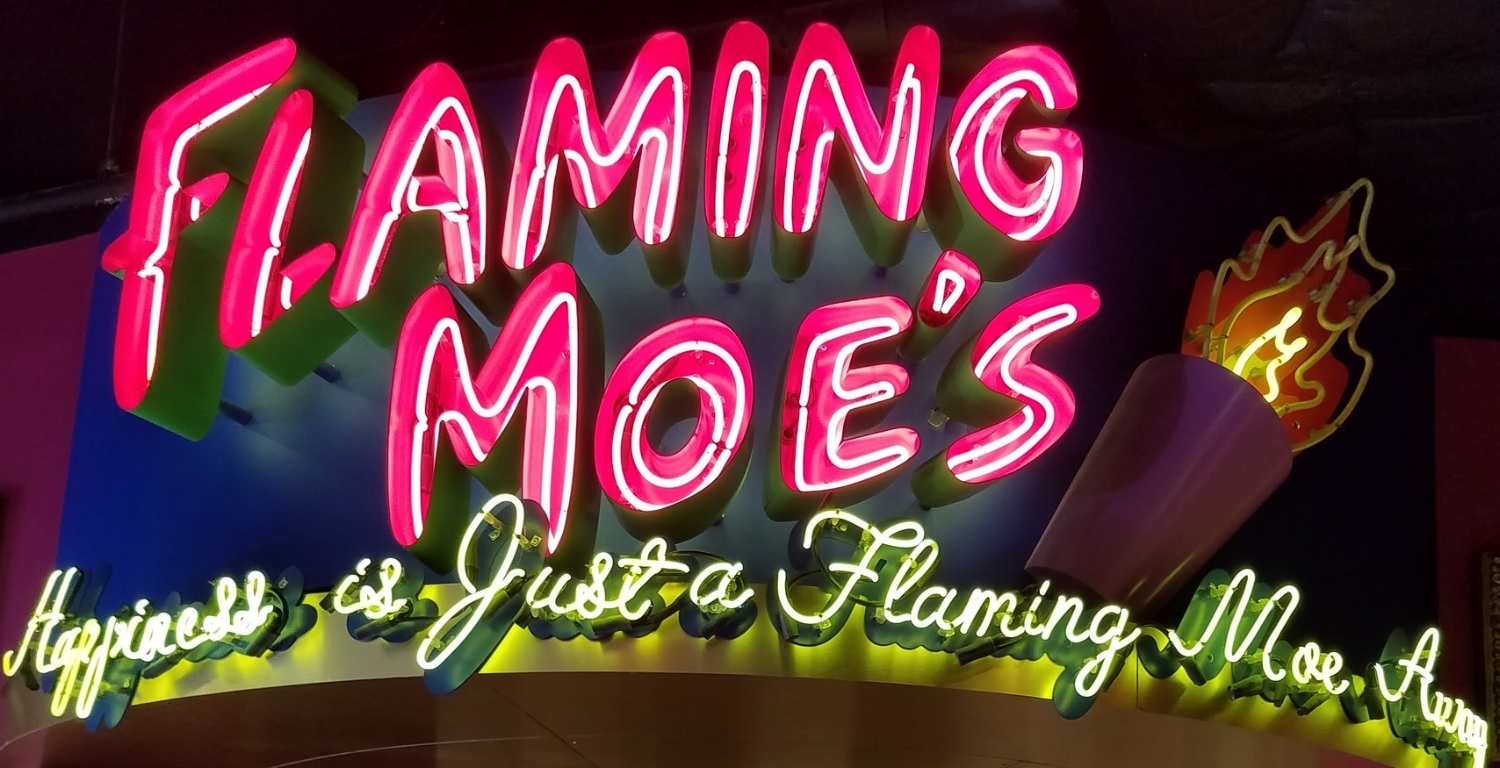 Flaming Moe's is located in Springfield in Universal Studios Florida.