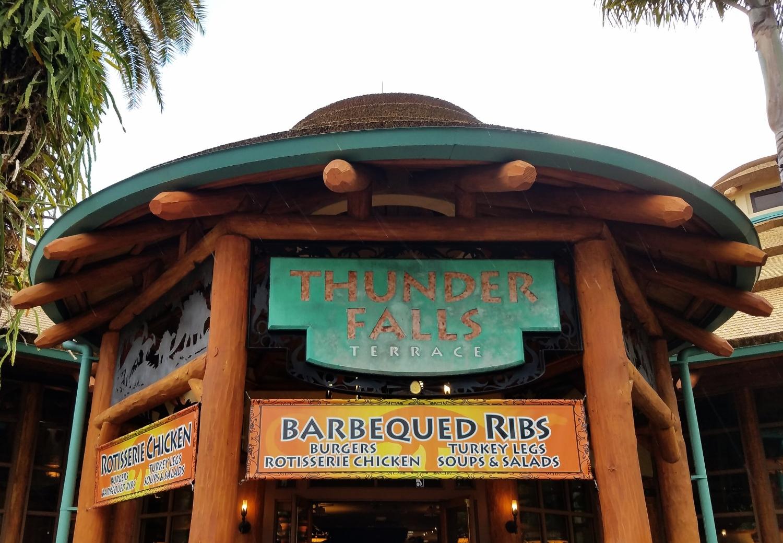 Thunder Falls Terrace is a Jurassic Park themed restaurant.