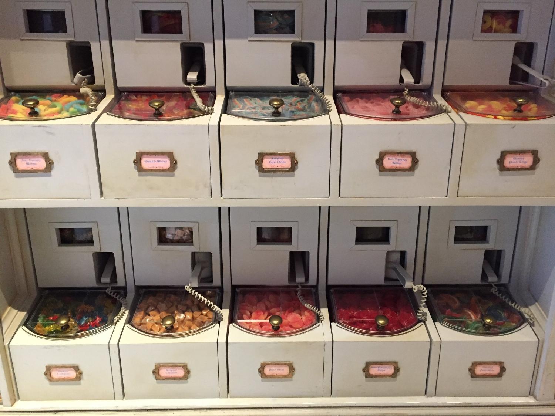 Bulk candy at Sugarplum's Sweet Shop.