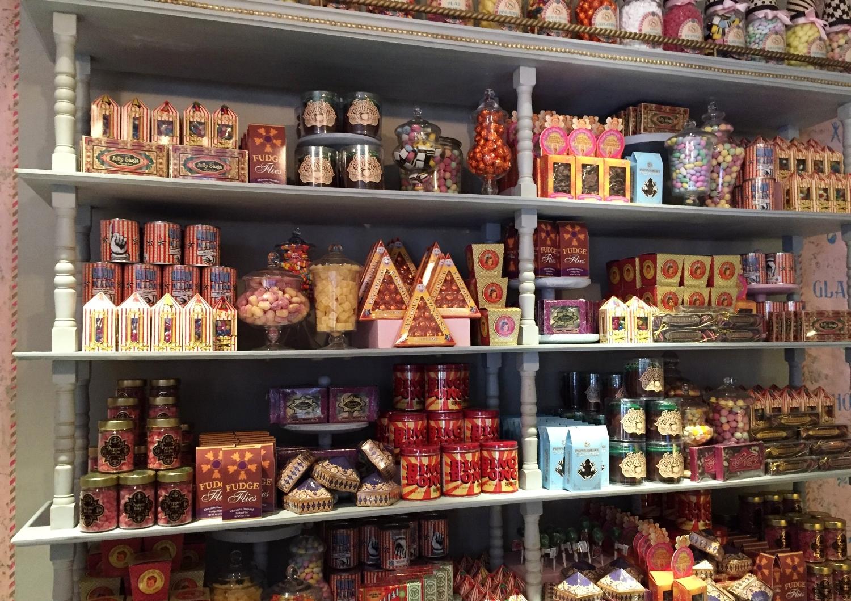 Candy display at at Sugarplum's Sweet Shop.