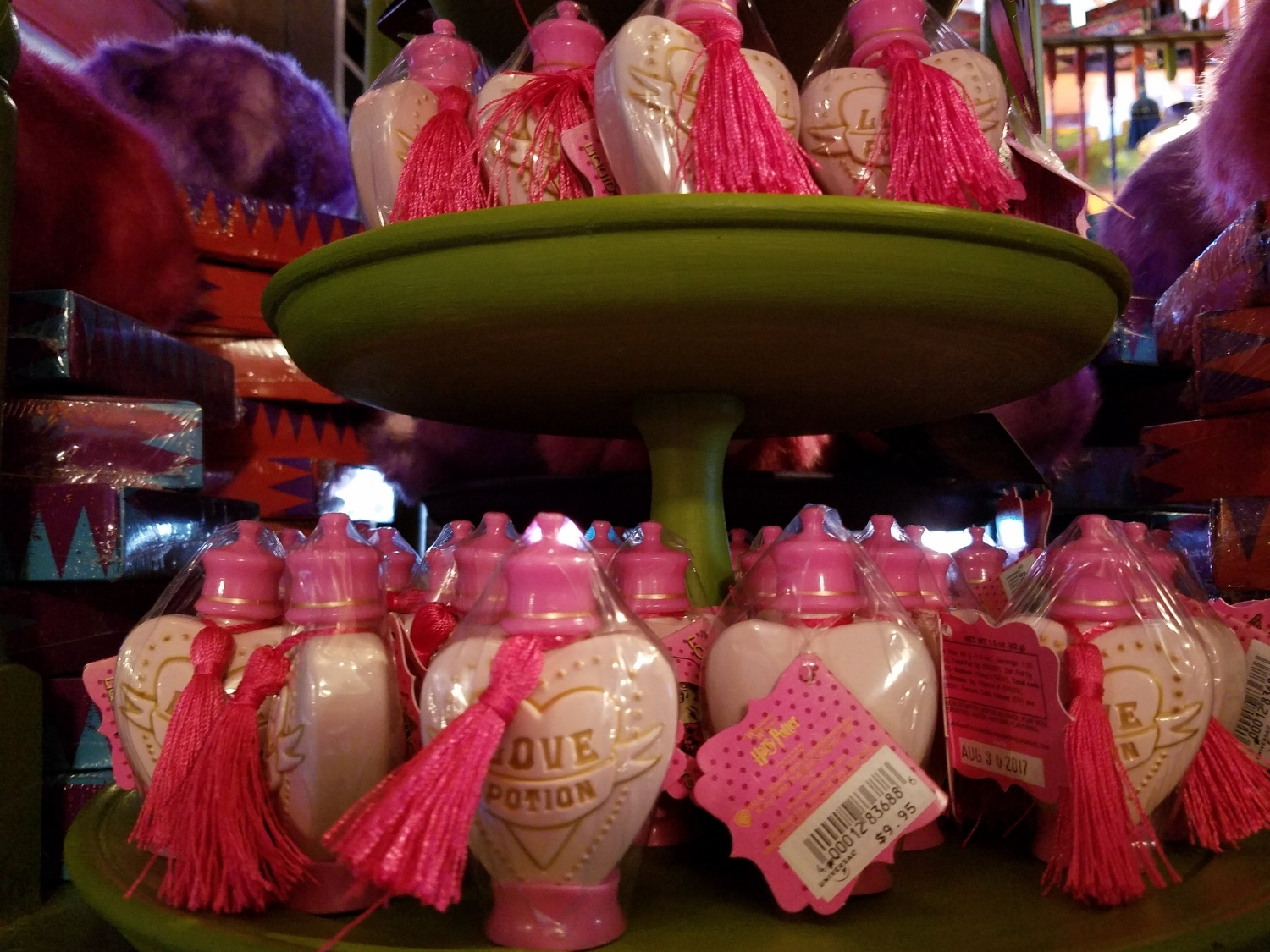 Love Potion for sale at Weasley's Wizard Wheezes.