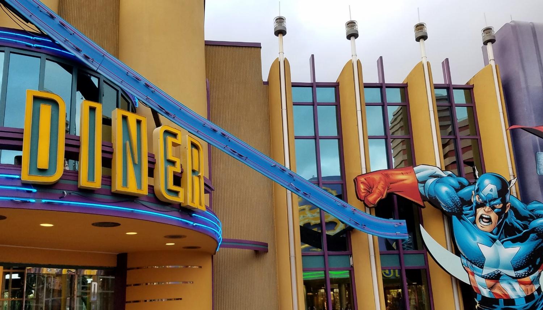 Captain America Diner in Universal's Marvel Super Hero Island