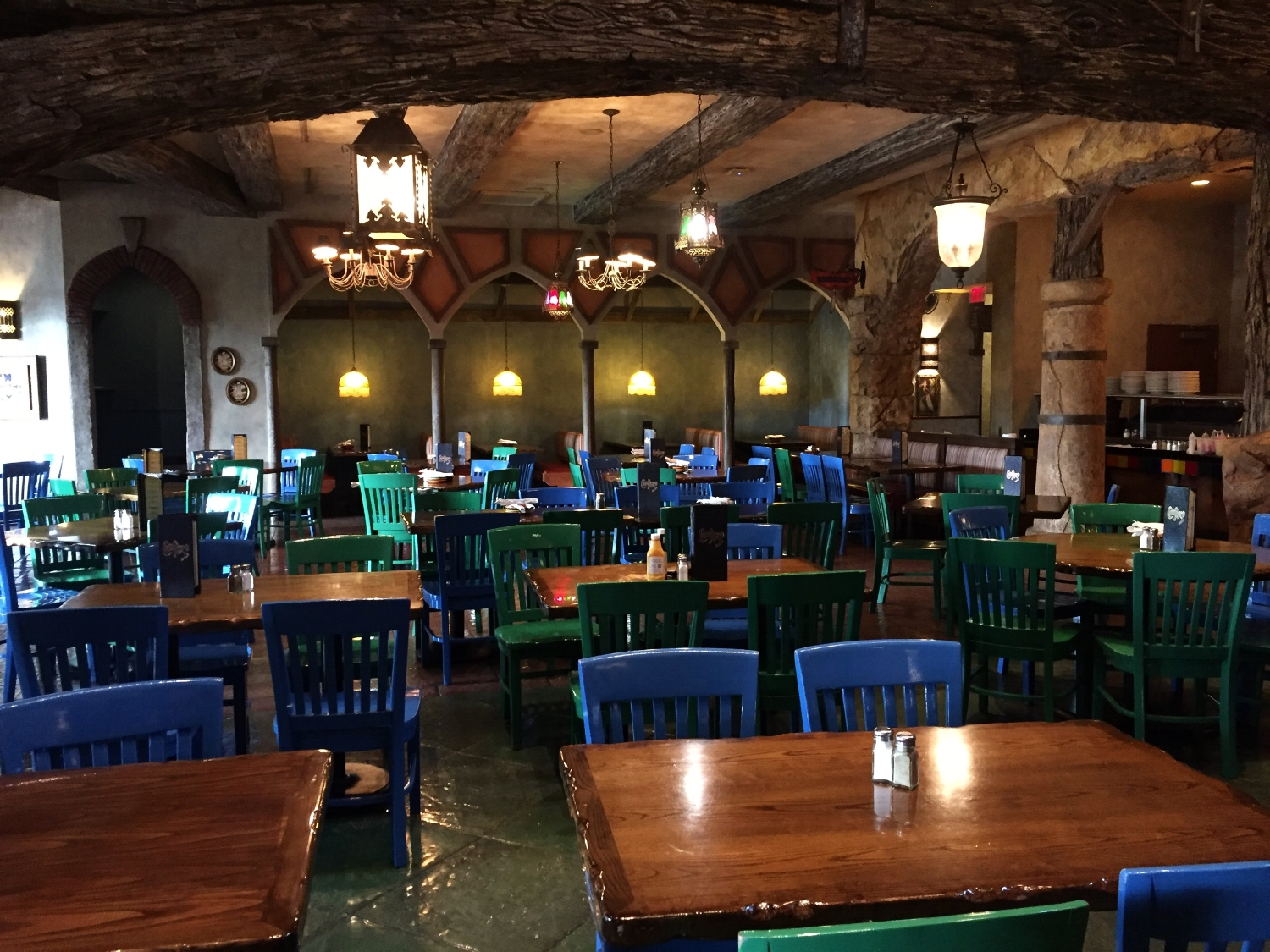 Dining area inside Confisco Grille