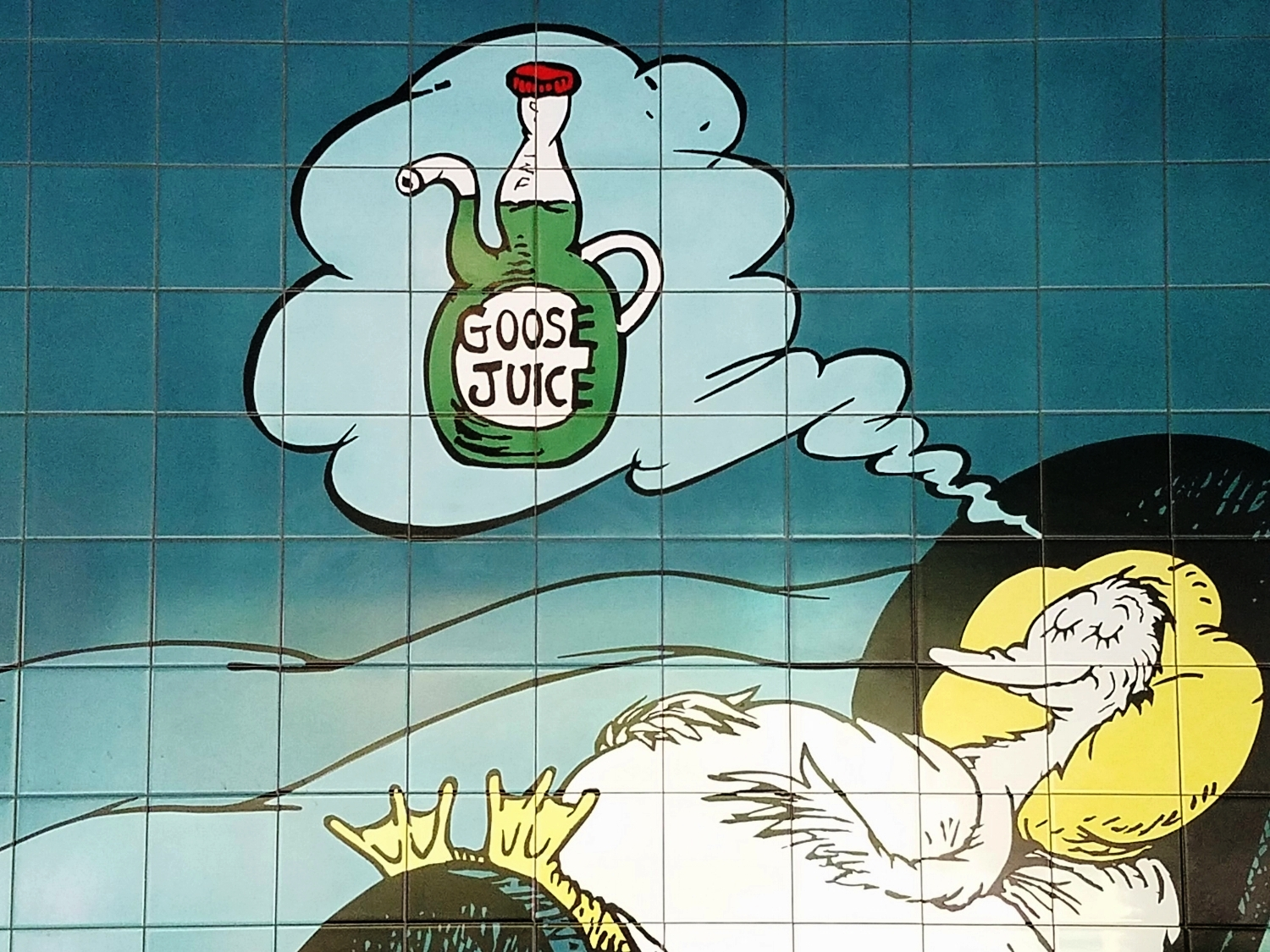The goose dreaming of goose juice