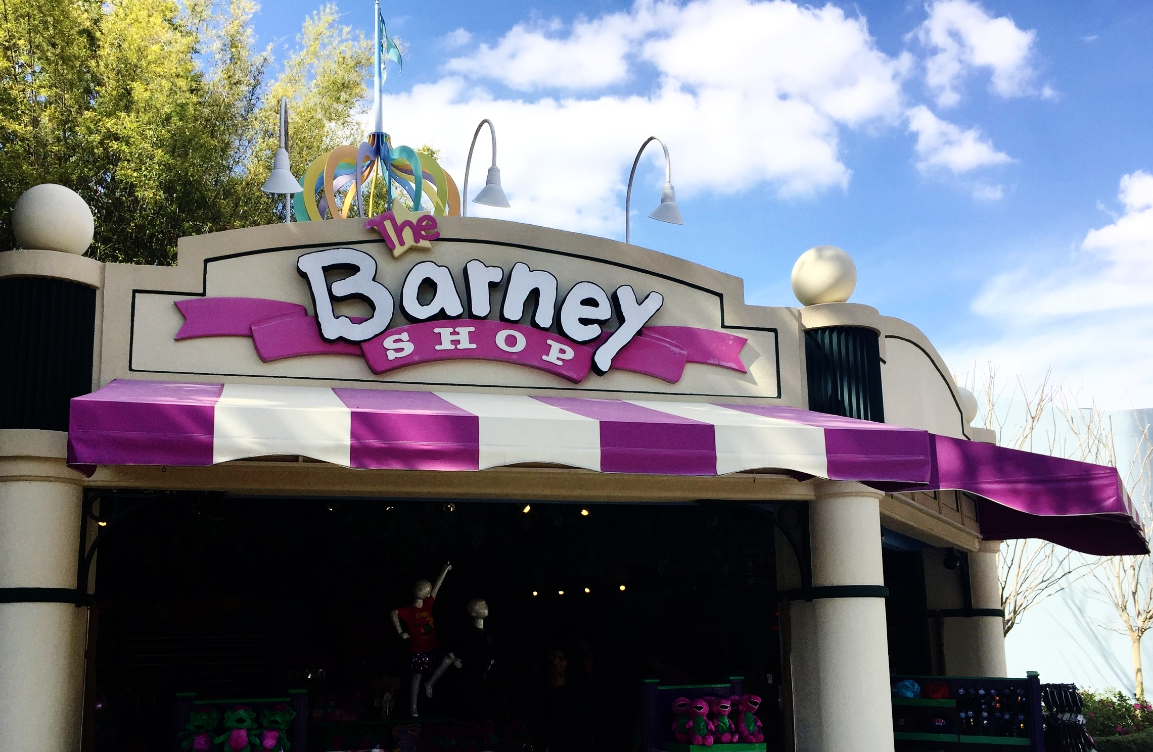 The Barney Shop sells Barney themed merchandise.