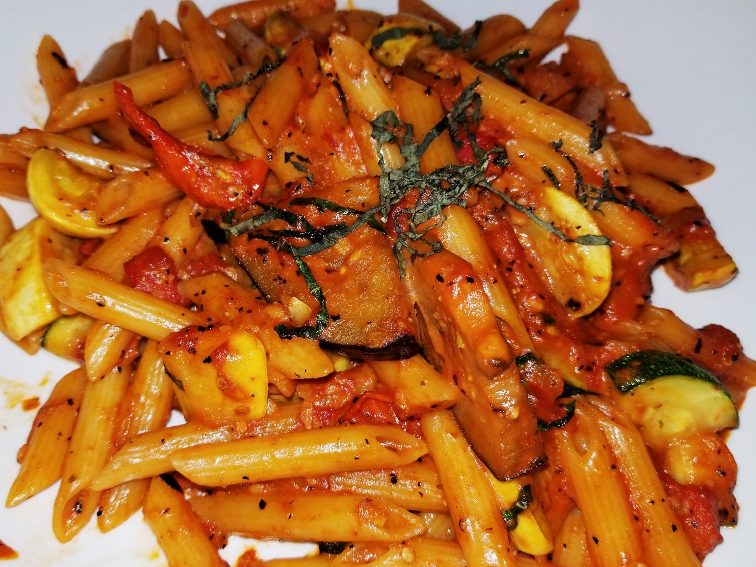 Grilled Vegetable Pasta from NBC Sports Grill and Brew
