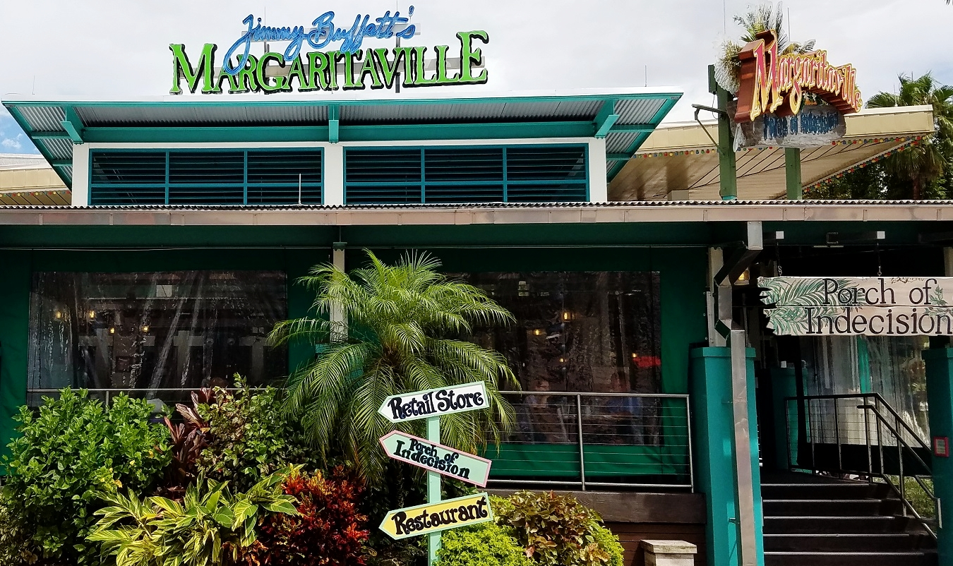Jimmy Buffet's Margaritaville restaurant in CityWalk Orlando.