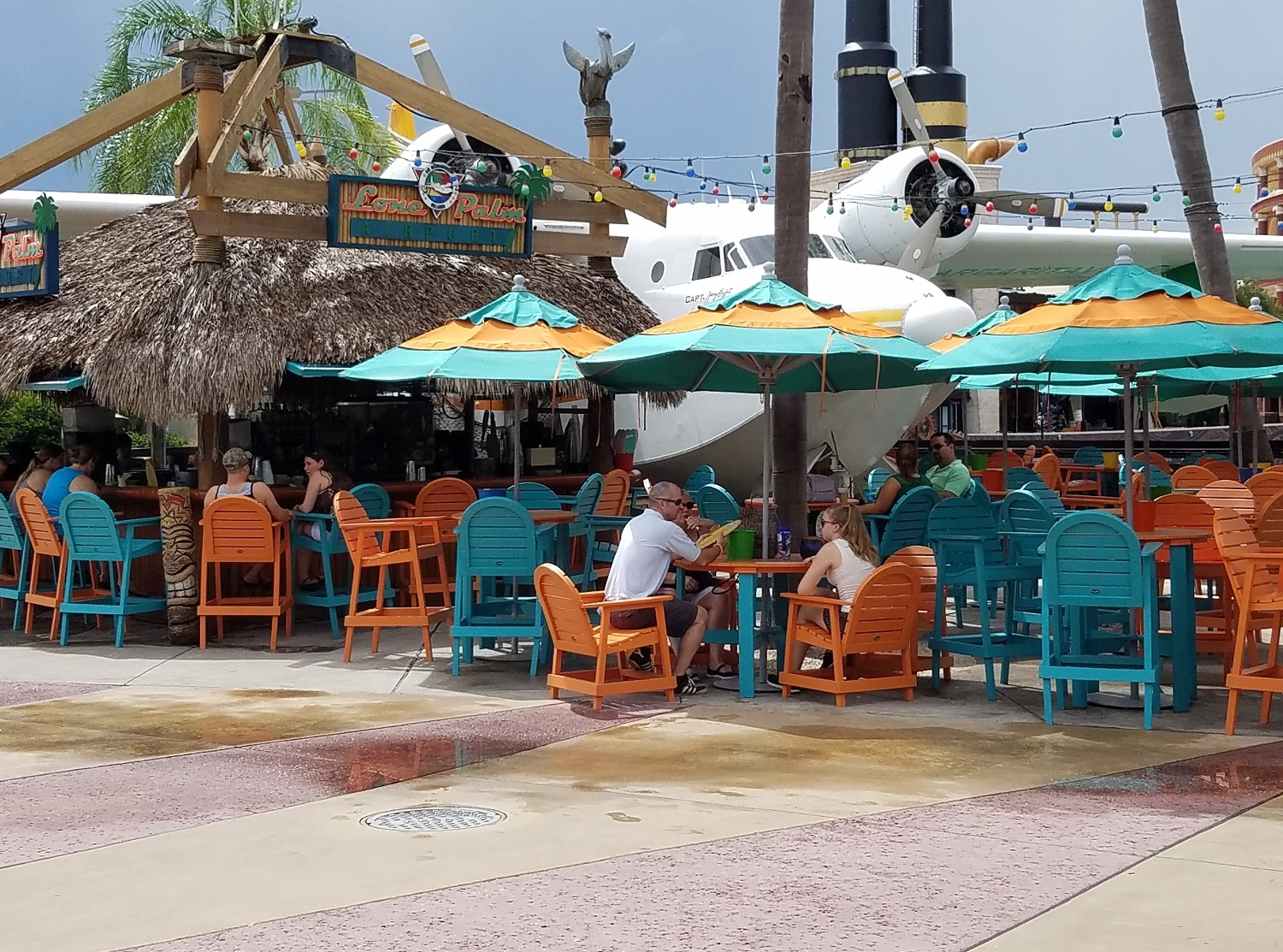 The Lone Palm Airport Bar across from Jimmy Buffett's Margaritaville.