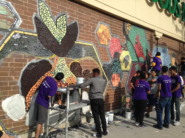 Whole Foods - Working on a mural.jpg