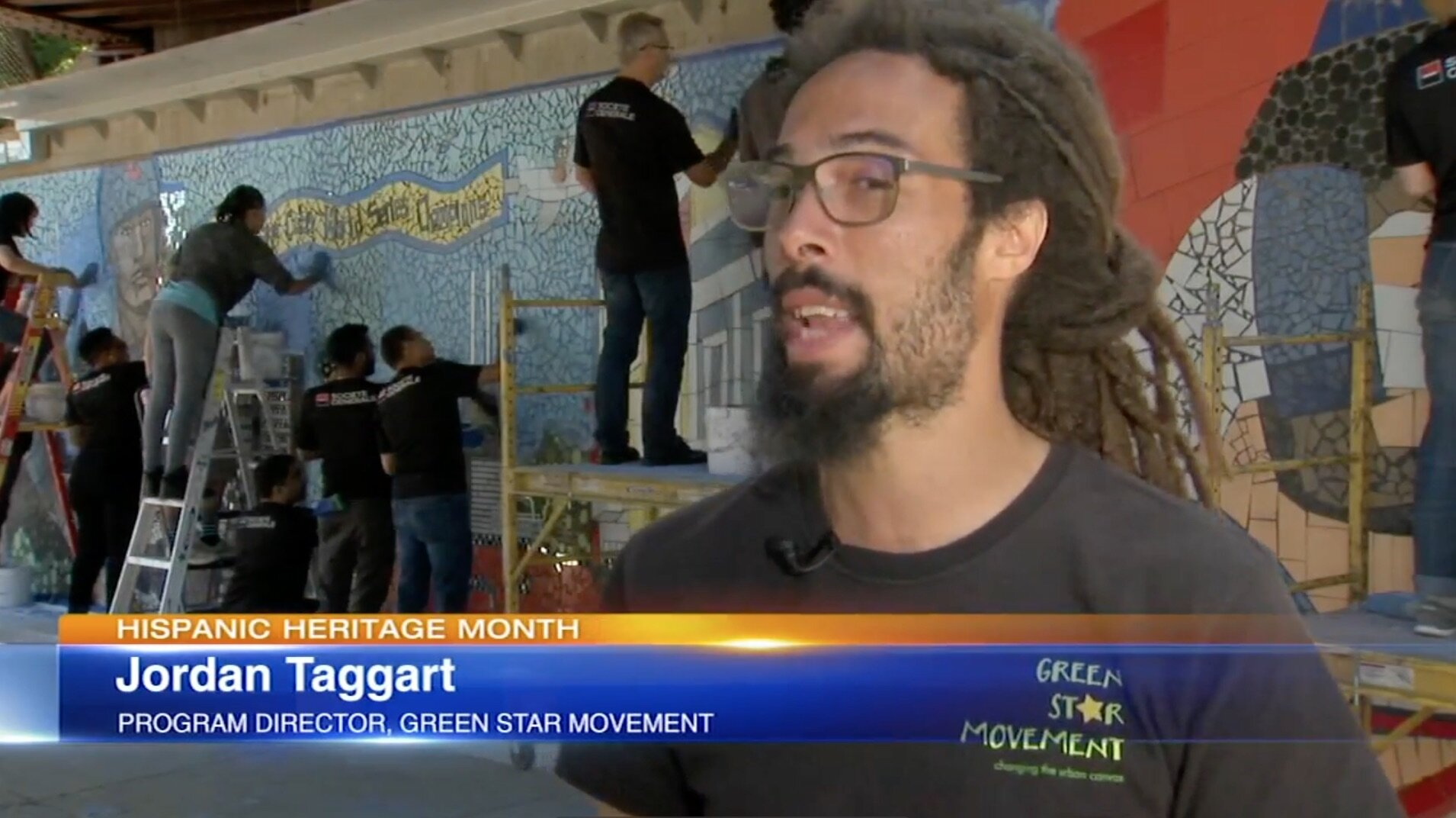 ABC 7 Chicago came on site at our Healy Underpass in Hermosa to highlight the efforts by Green Star and local community members in honoring The Borinqueneers and larger history of the area.