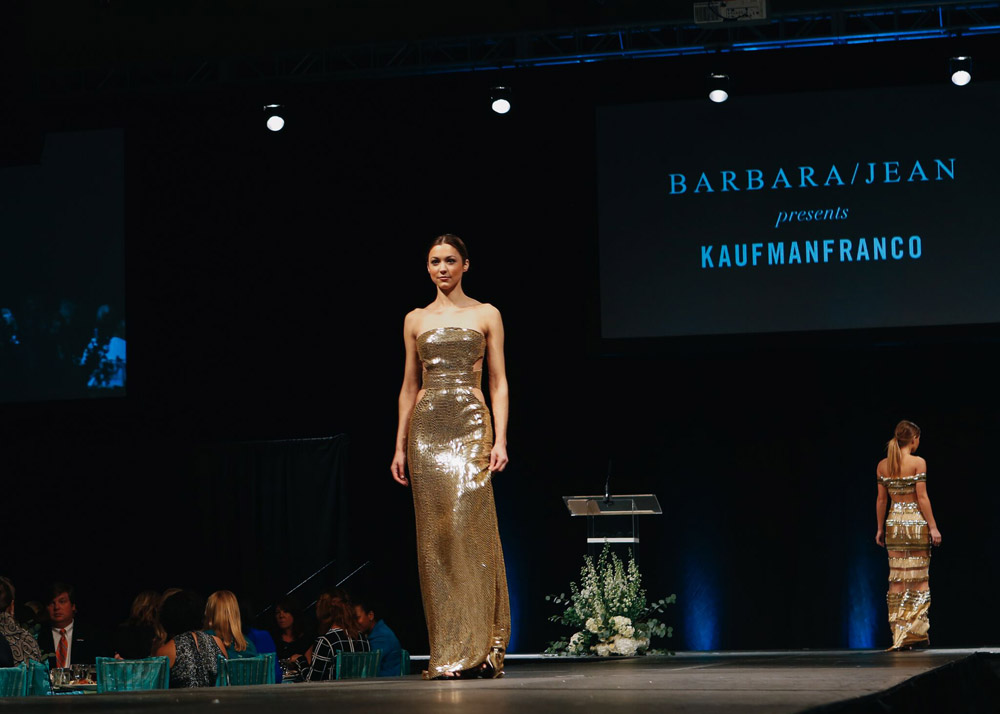 Barbara Jean and Kaufman Franco Fashion Show for Woman of Inspiration luncheon in Little Rock, benefiting Children's Advocacy Centers of Arkansas. Photos by Sarah Crider.