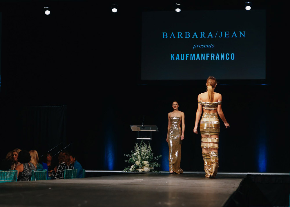 Barbara Jean and Kaufman Franco Fashion Show for Woman of Inspiration luncheon in Little Rock, benefiting Children's Advocacy Centers of Arkansas.