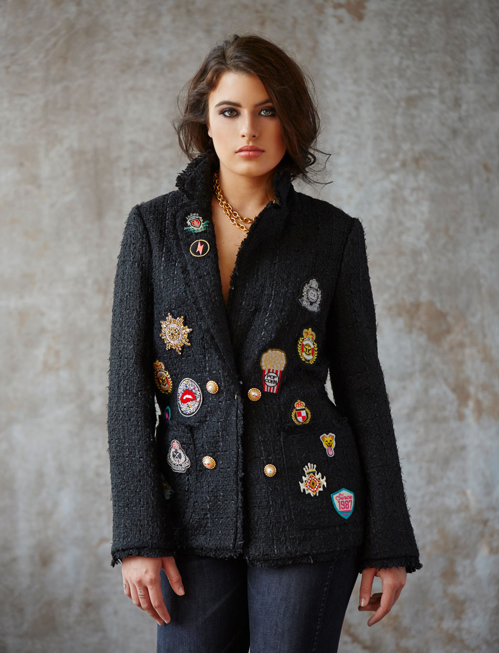 Edward Achour Paris patch-detail jacket