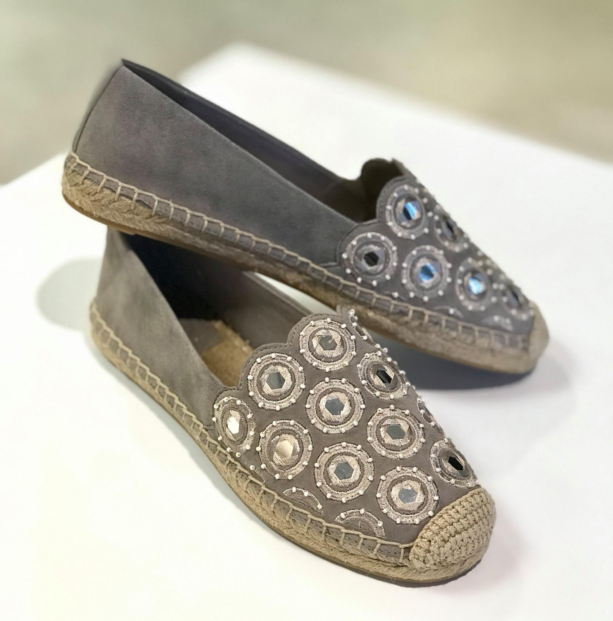 Tory Burch Mirrored Espadrilles
