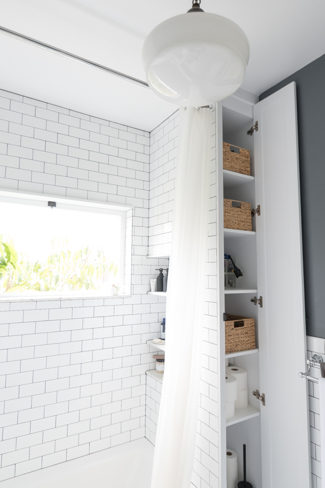 The Gold Hive Bathroom Storage