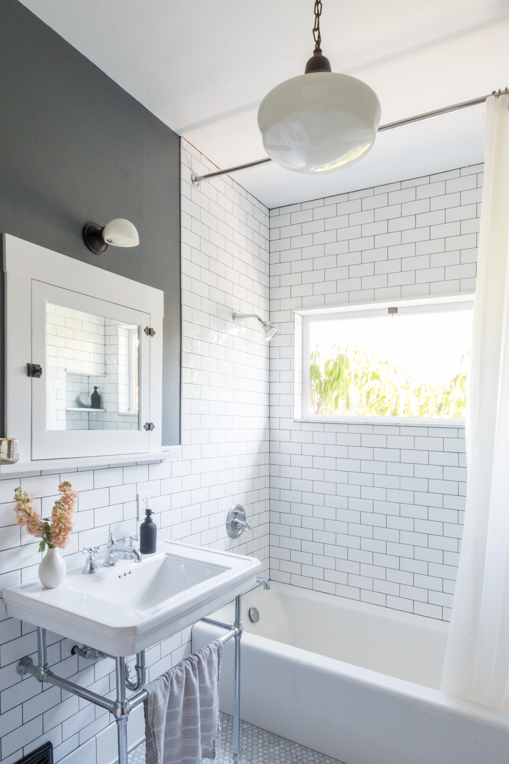 Subway Tile in vintage bathroom