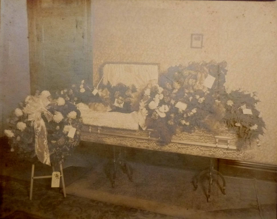 "1920s Open Casket Funeral. Silver Gelatin Photo of Deceased Man in Coffin. Rest In Peace. Postmortem Corpse Photography. 8"" by 10""."