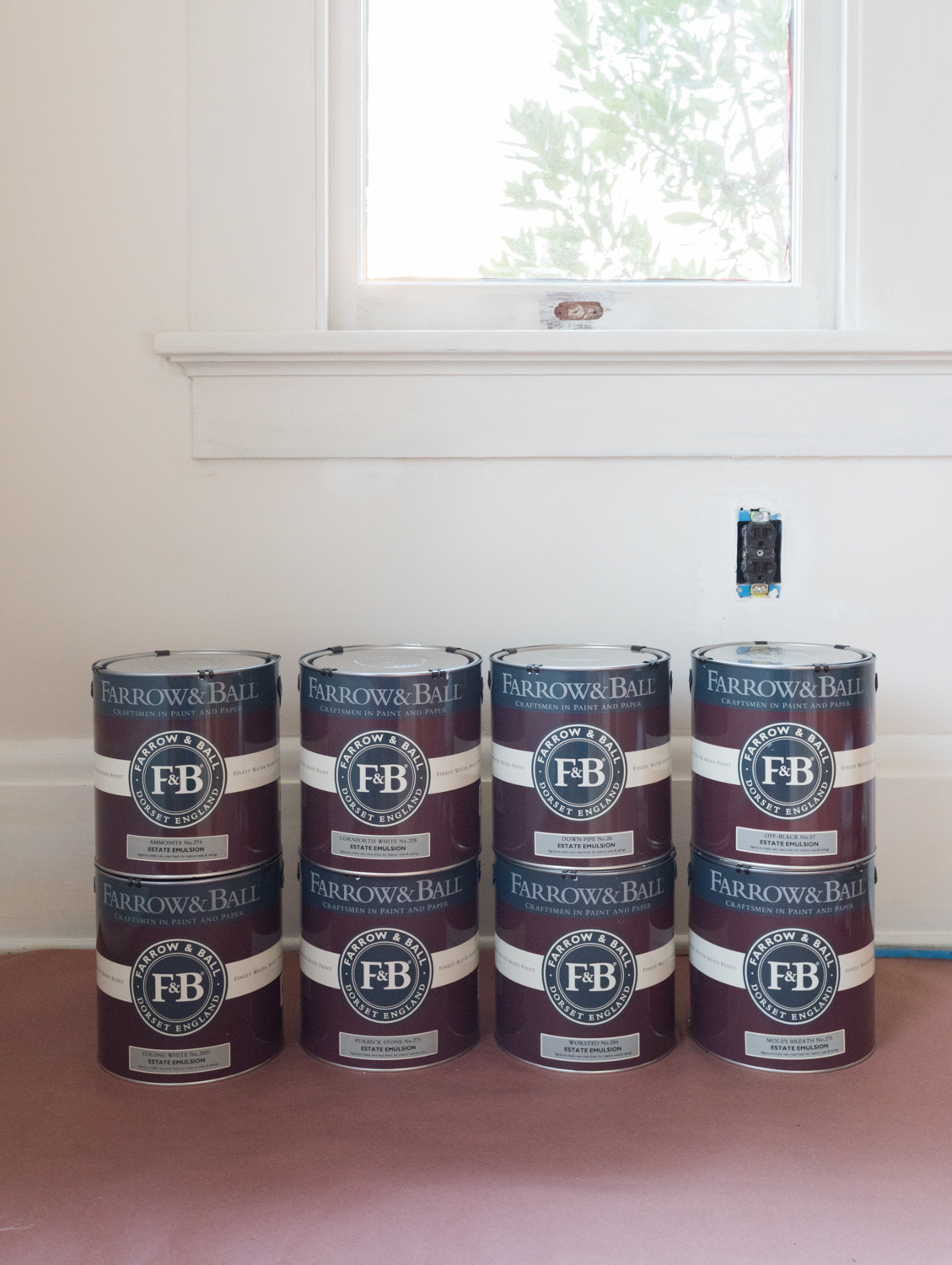 Farrow & Ball paint for dramatic wall mural