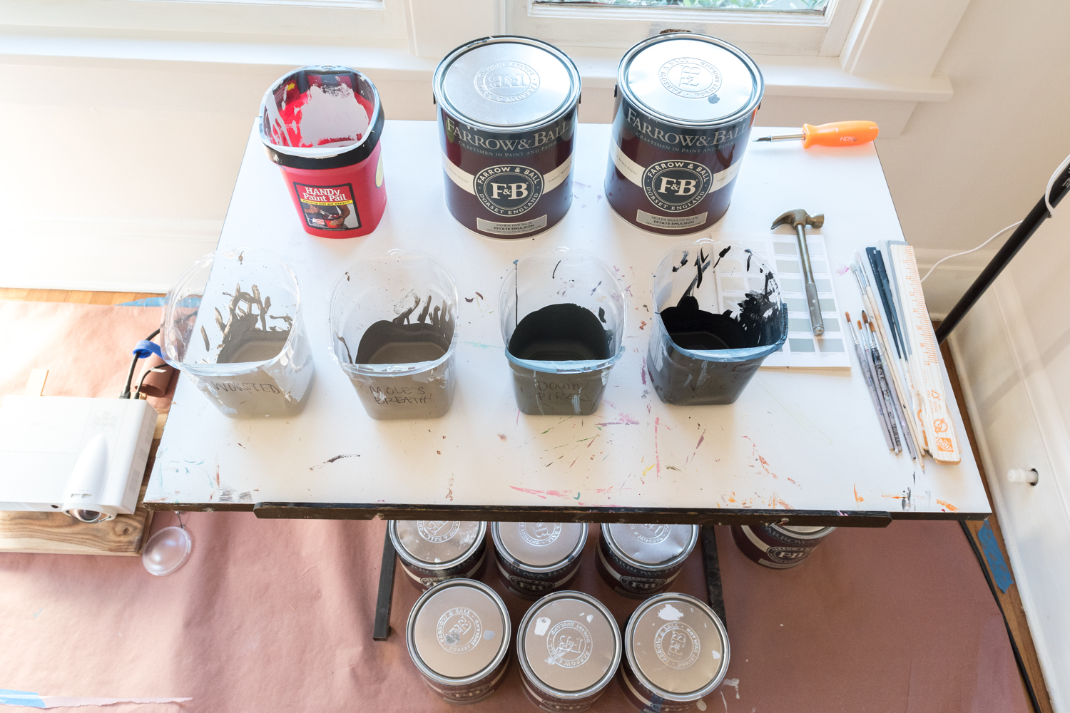 how to organize paints for ease