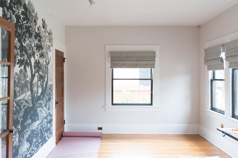 Room progress with roman shades