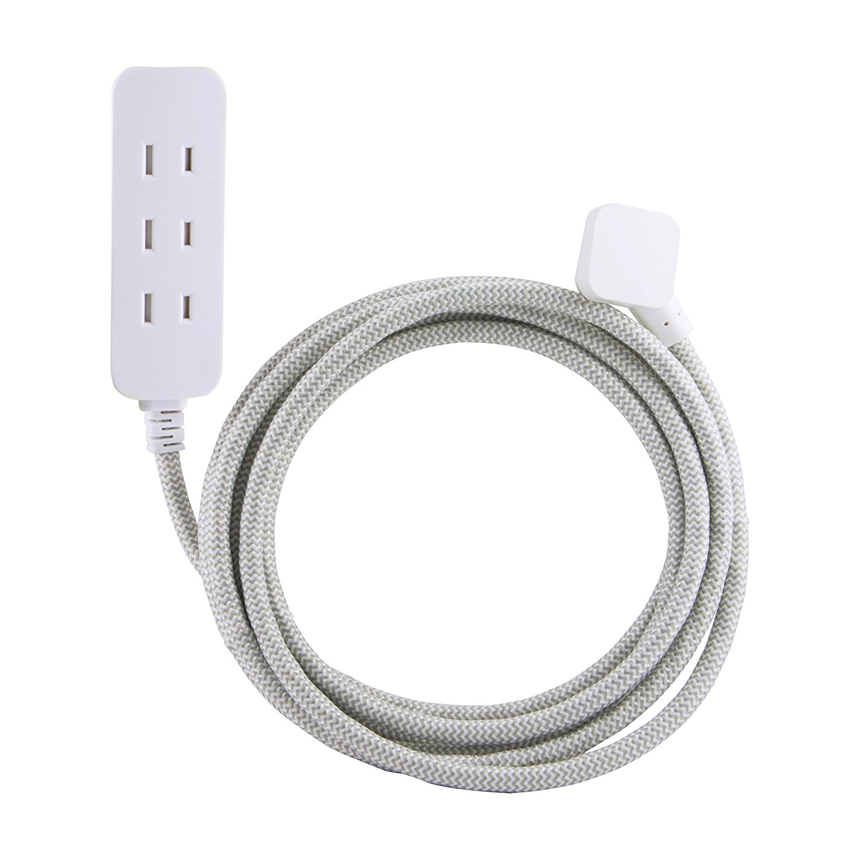 Flat Plug Braided Cord