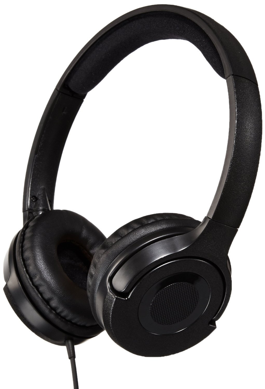 AMAZONBASICS LIGHTWEIGHT ON-EAR HEADPHONES - BLACK: ELECTRONICS